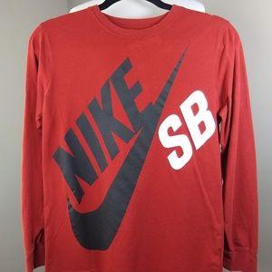 Nike SB Red Long Sleeve T-Shirt Men's Size XL
